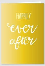 Papette Papette Gold greeting card with enveloppe happily ever after