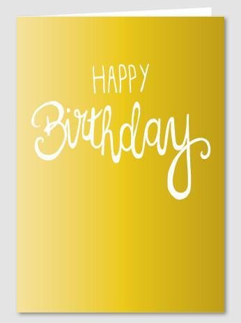 Papette Papette Gold greeting card with enveloppe happy birthday