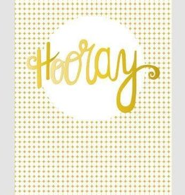 Papette Papette Gold greeting card with enveloppe hooray