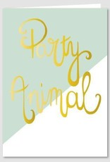 Papette Papette Gold greeting card with enveloppe party animal