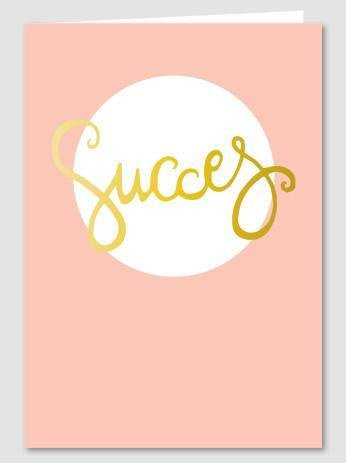 Papette Papette Gold greeting card with enveloppe succes