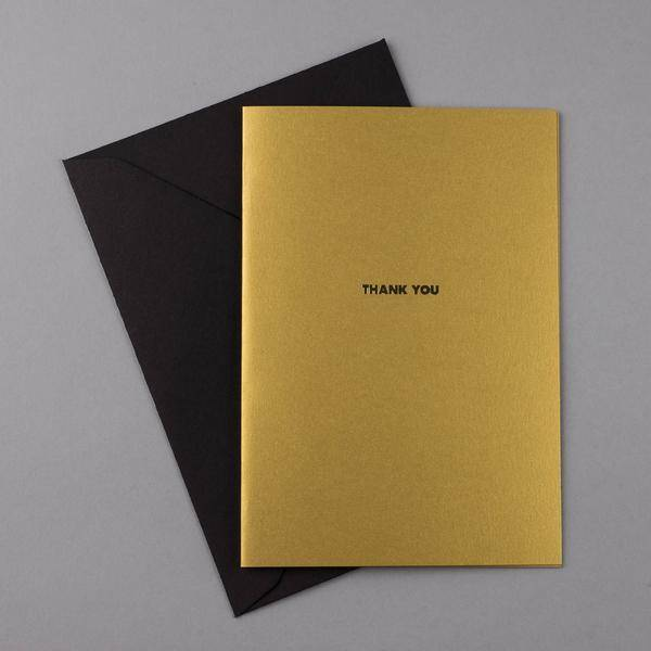 Papette Papette Golden years greetingcard gold 'thank you'