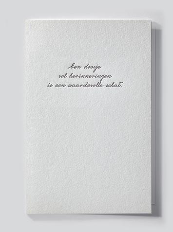 Papette Papette heaven greeting card with enveloppe een doosje vol herrinneringen