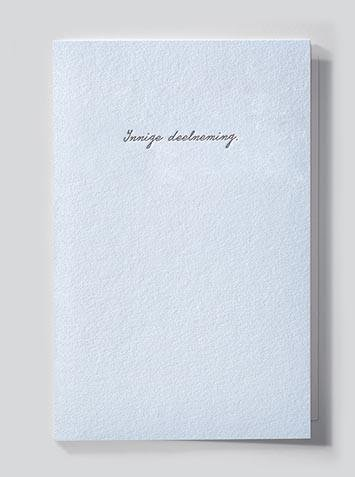 Papette Papette heaven greeting card with enveloppe innige deelneming