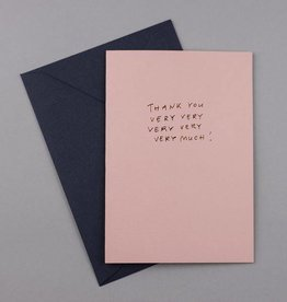 Papette Papette Hot Copper greeting,card pink thank you very, very