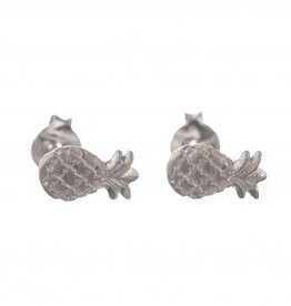 Betty Bogaers Betty Bogaers pineapple stud earrings silver