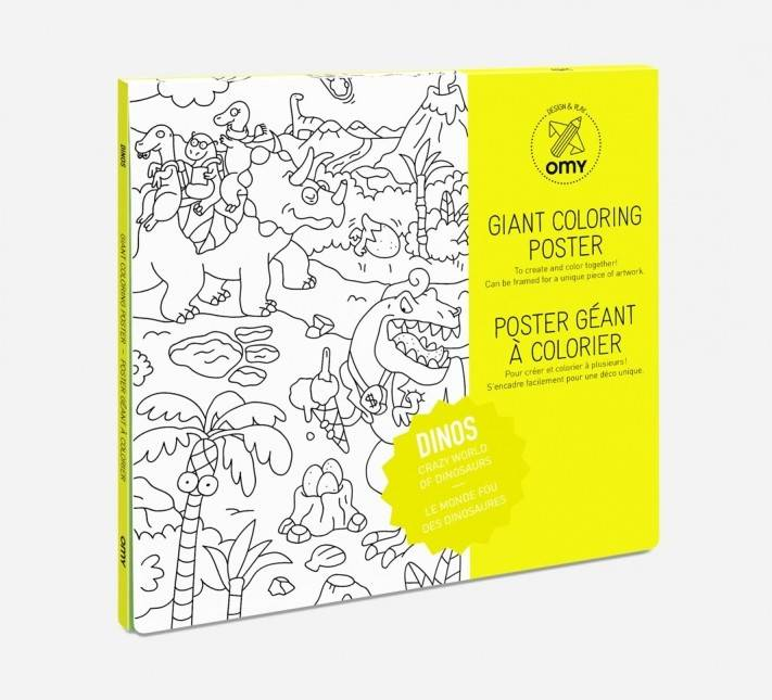 OMY Omy coloring poster 100 x 70 Dinos