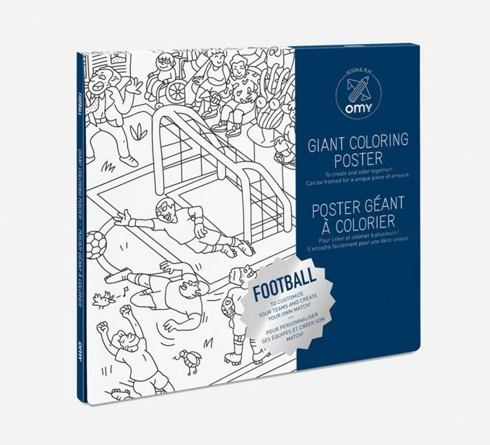 OMY Omy coloring poster 100 x 70 Football