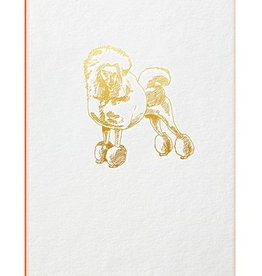 Papette Papette greeting card Gold Fever 'Poodle'