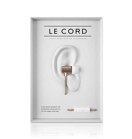 Le Cord earphones gold