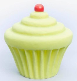 Little Lamp Company Cupcake lamp lime green + cherry 22 cm