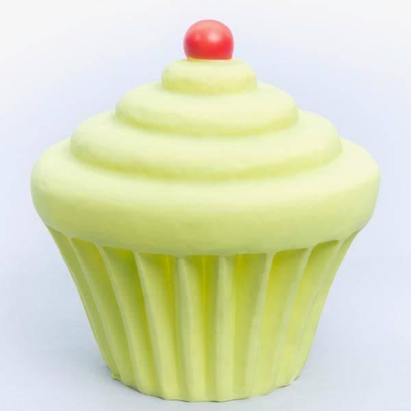 Little Lamp Company Cupcake lamp lime green + cherry 22 cm