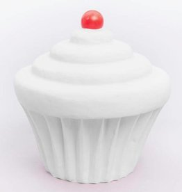 Little Lamp Company Cupcake lamp vanilla white + cherry 22 cm