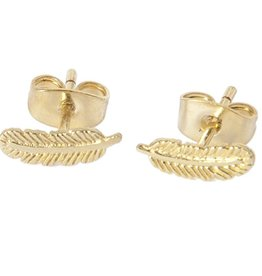 Betty Bogaers Betty Bogaers little feather stud earrings gold one size