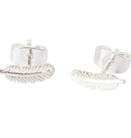 Betty Bogaers Betty Bogaers little feather stud earrings silver one size