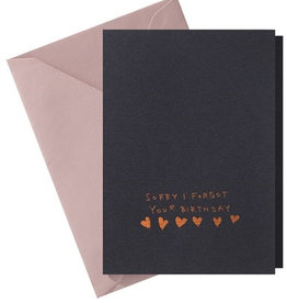 Papette Papette Hot Copper greeting card blue 'sorry I forgot'