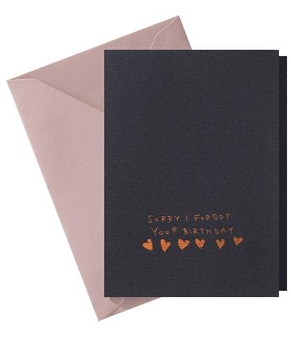 Papette Papette Hot Copper greeting card blue 'sorry I forgot'