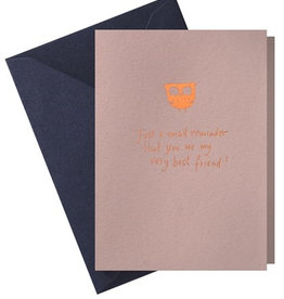 Papette Papette Hot Copper greeting,card pink 'just a small reminder'