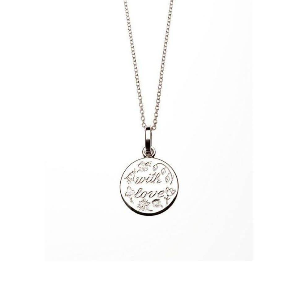 Anne Zellien Anne Zellien sentimental medaillon and necklace 'with love' silver 16 mm