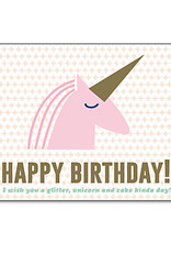 Enfant Terrible Enfant Terrible card + enveloppe 'happy birthday - unicorn'