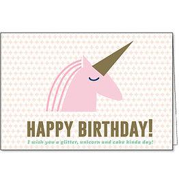 Enfant Terrible Enfant Terrible card + enveloppe 'happy birthday - unicorn'
