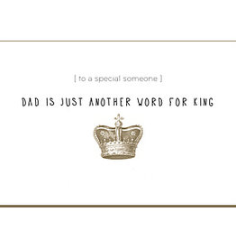 Enfant Terrible Enfant Terrible card + enveloppe 'dad is just another word'