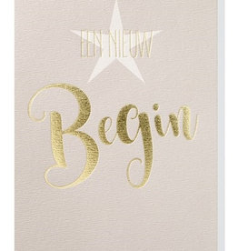 Papette Papette greeting card gold 'een nieuw begin'