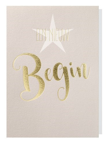 Papette Papette greeting card gold 'een nieuw begin'