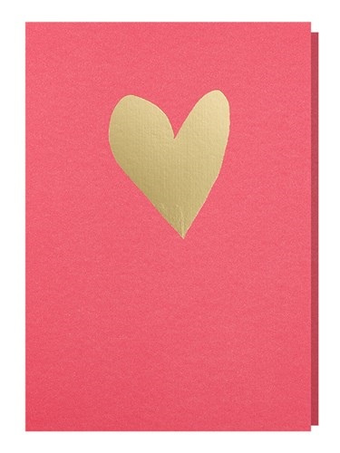 Papette Papette greeting card love 'pink gold'