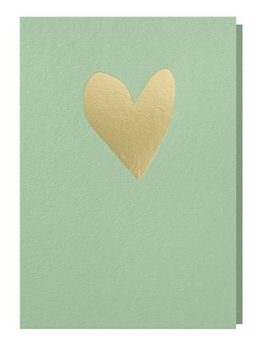 Papette Papette greeting card love 'mint gold'