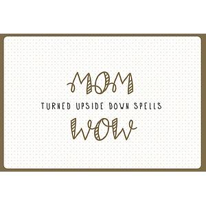 Enfant Terrible Enfant Terrible card + enveloppe 'mom turned upside down spells wow''