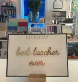 Goegezegd Goegezegd quote gold 'best teacher ever'