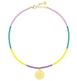 My Jewellery My Jewellery beads & coin anklet palmtree gold
