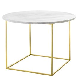Bloomingville Bloomingville Eva coffee table marble - steel 60 x 40 cm