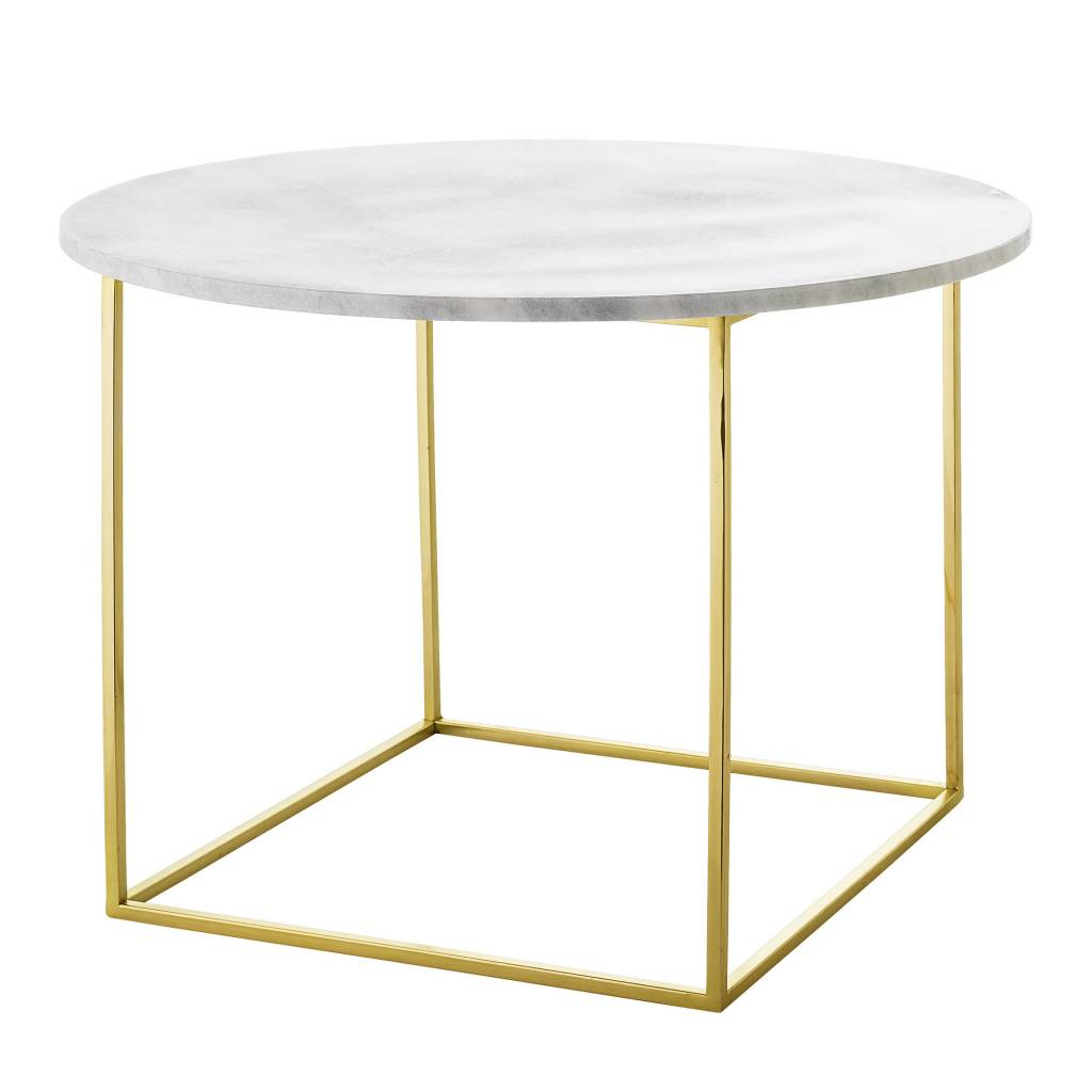 Bloomingville Eva Coffee Table Marble Steel 60 X 40 Cm