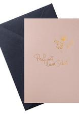 Papette Papette hot copper greeting card  'proficiat lieve schat'
