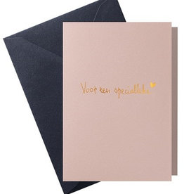 Papette Papette hot copper greeting card  'voor een specialleke'