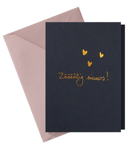 Papette Papette hot copper greeting card  'zaaaaalig nieuws!'