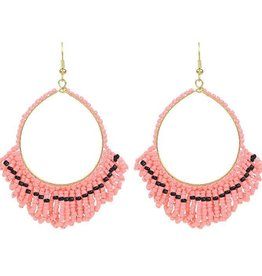 My Jewellery My Jewellery beaded round earrings pink