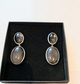Anne Zellien Anne Zellien earrings brown agate silver