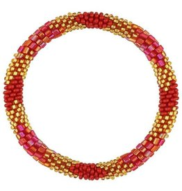My Jewellery My Jewellery LIttle beads bracelet - gold - red