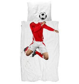Snurk Bedding Snurk Soccer Champ red 140 x 200/220