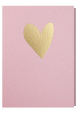 Papette Papette greeting card love 'blink pink gold'