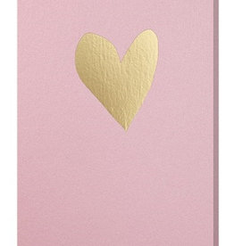Papette Papette greeting card love 'blink pink gold'