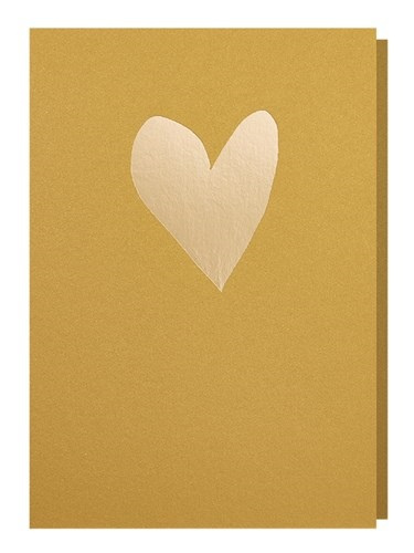 Papette Papette greeting card love 'gold red'