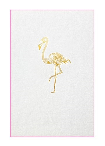Papette Papette greeting card Gold Fever Flamingo