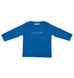 Bob & Blossom Ink blue 'little man' t shirt