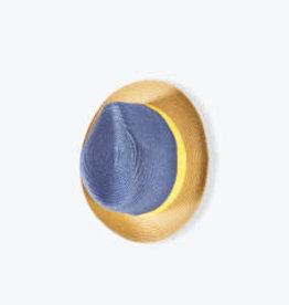 Arsène et les Pipelettes Panama hat - navy blue Size 2