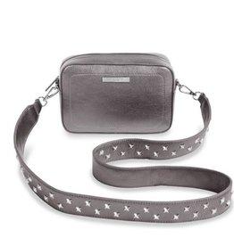 Katie Loxton Katie Loxton Luna bag metallic charcoal - 20.5 x 14 x 6 cm