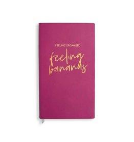 Katie Loxton katie Loxton notebook feeling organised / feeling bananas 11.5 x 20.5 cm